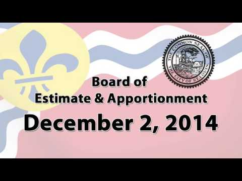 Estimate & Apportionment   December 2, 2014 Special Meeting
