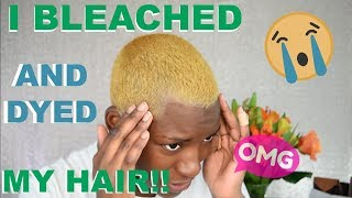 I BLEACH AND DYED MY HAIR   BEAUTY BY KANDI
