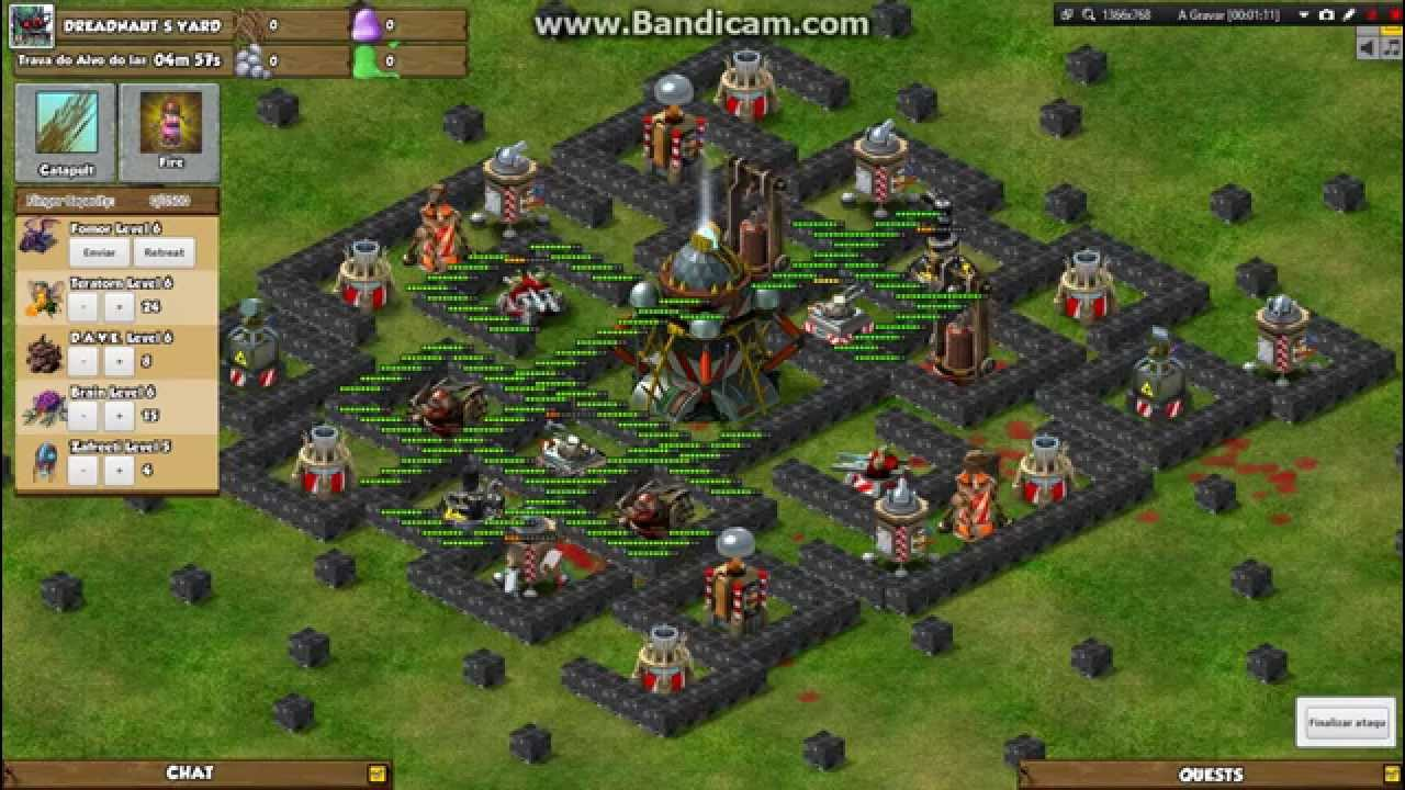 backyard monsters stronghold level 50 attack youtube