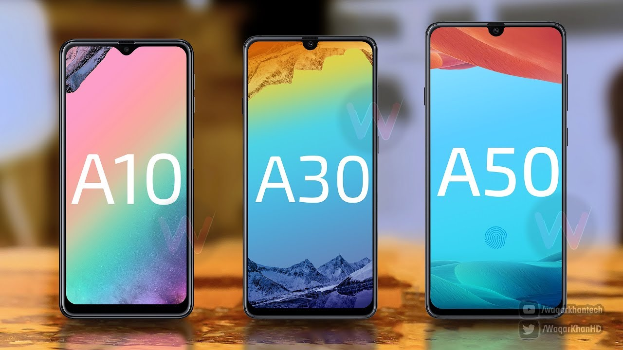 Galaxy A50, A30 & A10 - First Look! - YouTube