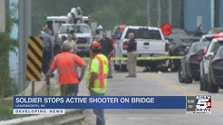 Active duty soldier saves lives after stopping active shooter on Centennial Bridge in Leavenworth