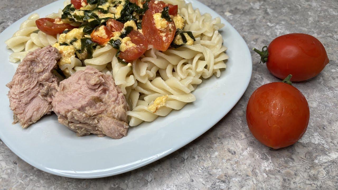 Что приготовить на ужин Отличный вариант из макарон и консервы