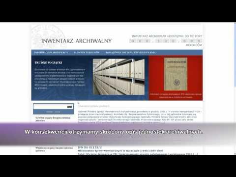 Instrukcja obsługi inwentarza archiwalnego IPN