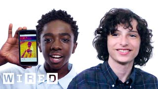 Download Stranger Things Cast Show Us the Last Thing on Their Phones | WIRED Mp3 and Videos