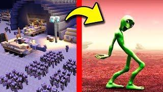 АРМИЯ против ЗЕЛЕНЫЙ ЧЕЛОВЕК В Майнкрафт Нубик на военной базе танцует minecraft троллинг нуба Мод