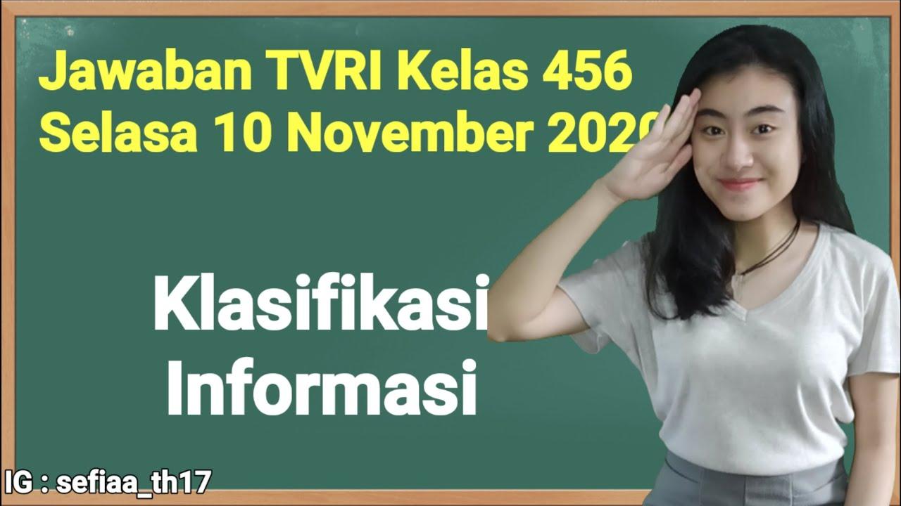 Kunci Jawaban TVRI Kelas 4-5-6 SD Selasa 10 November…