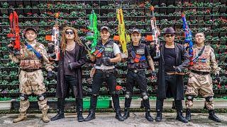 LTT Game Nerf War : Two Warriors SEAL X Nerf Guns Fight Rocket Crazy Odd Combat Squads