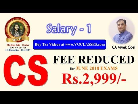 Salary Part 1 - Basis of Charge (AY 17-18) by CA Vivek Goel for May/June 2017 & Nov/Dec 2017 exams