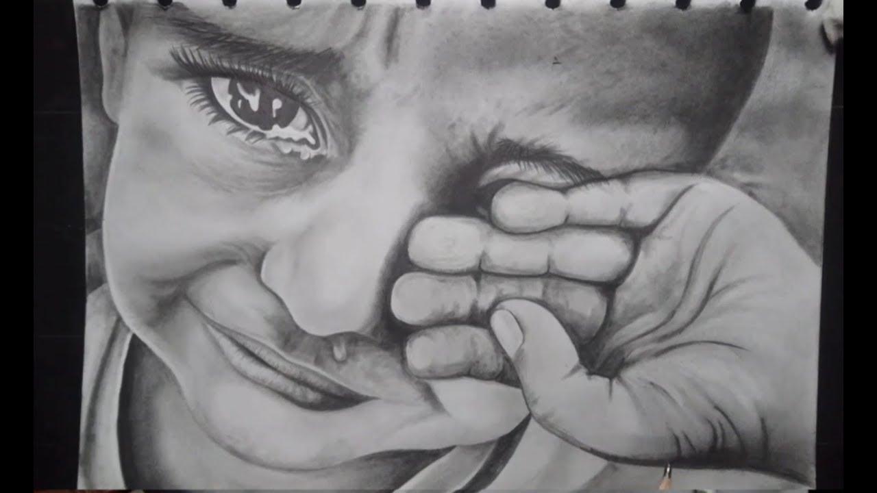 Menangis Cara Menggambar Wajah Realistis Dengan Pensil Cara Menggambar Orang Mudah Bagus Youtube