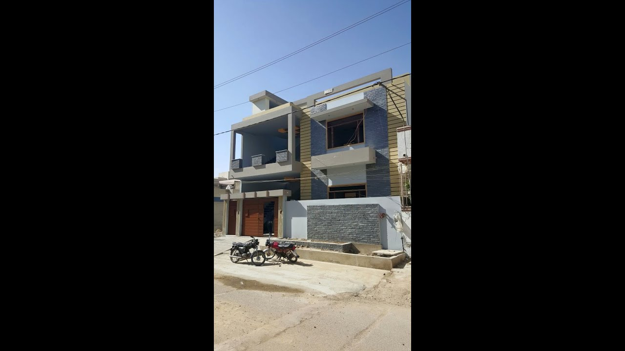 Front Elevation 120 Yards : Creative house sq yrd gulistan e jauhar block youtube