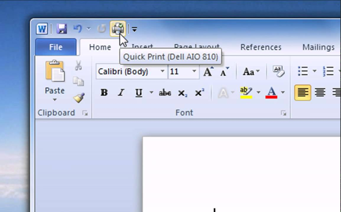 Features of ms word 2010
