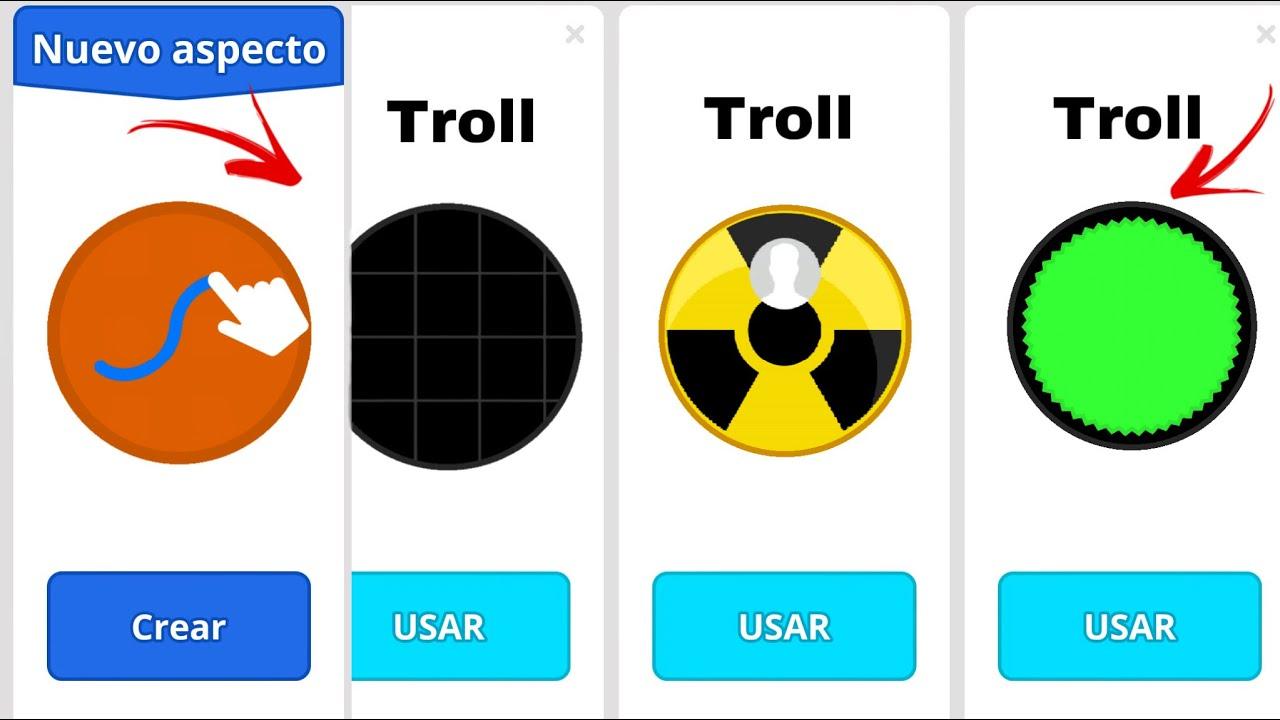 TROLLING SKINS TEAMMODE 3.0 - (Agar.io Mobile Gameplay!)