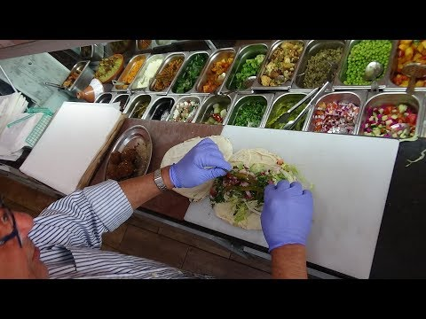 FALAFEL SANDWICH WRAP (with Falafel Recipe Making Process) - Middle Eastern Food At