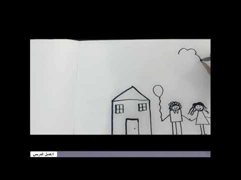 الانسان والرسم للصف الأول الابتدائي هديل الدريس Youtube