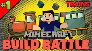 Minecraft Build Battle | ALL ABOARD THE POOP TRAIN! | #1