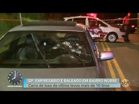 Empresário é baleado dentro do próprio carro em bairro nobre de SP | Primeiro Impacto (22/02/18)