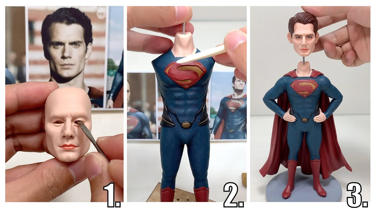 Polymer Clay Sculpture: Superman (Clark Kent), the full figure sculpturing process【Clay Artisan JAY】