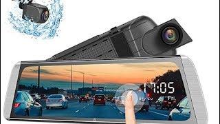 Campark mirror dash camera with dual 1080p camera's