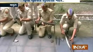 VIDEO: Mathura Policemen Fails to Fire Guns During a Mock Dril…
