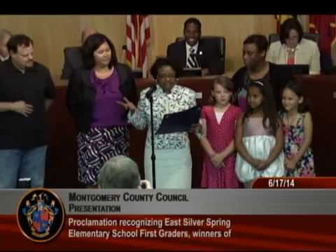 Proclamation recognizing East Silver Spring Elementary School First Graders