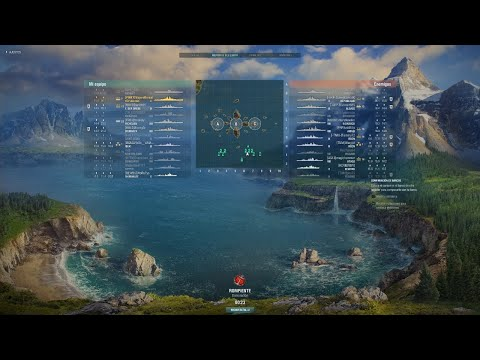 World of Warships France République T10 First Contact