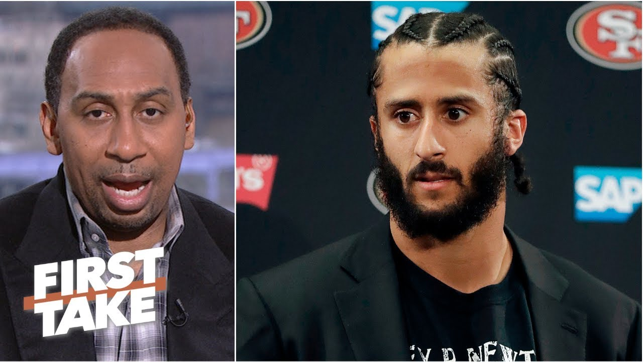 'Colin Kaepernick looks bad' after reported settlement with the NFL - Stephen A. | First Take