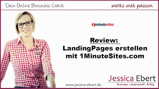 Review: LandingPage erstellen mit 1MinuteSites - LeadPages Alternative