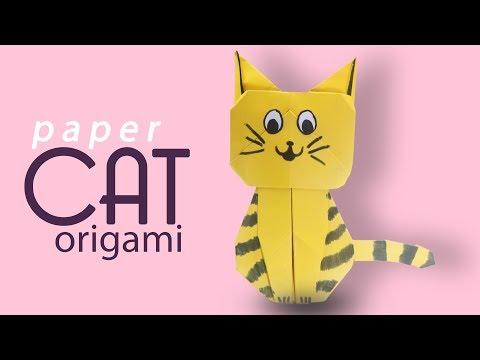 Paper Cat Craft | Paper Cat | Origami Cat | Popular Craft