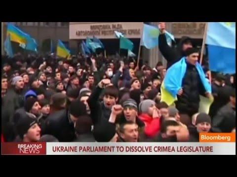 Ukraine Parliament to Dissolve Crimea Legislature