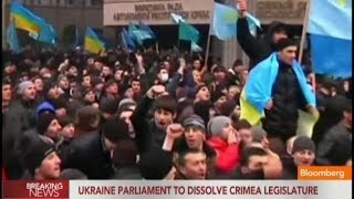 Ukraine Parliament to Dissolve Crimea Legislature