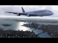 FSX A380 Paris to New York