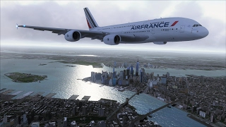 FSX A380 Paris to New York [AMAZING REALISM+EXTREME GRAPHICS]
