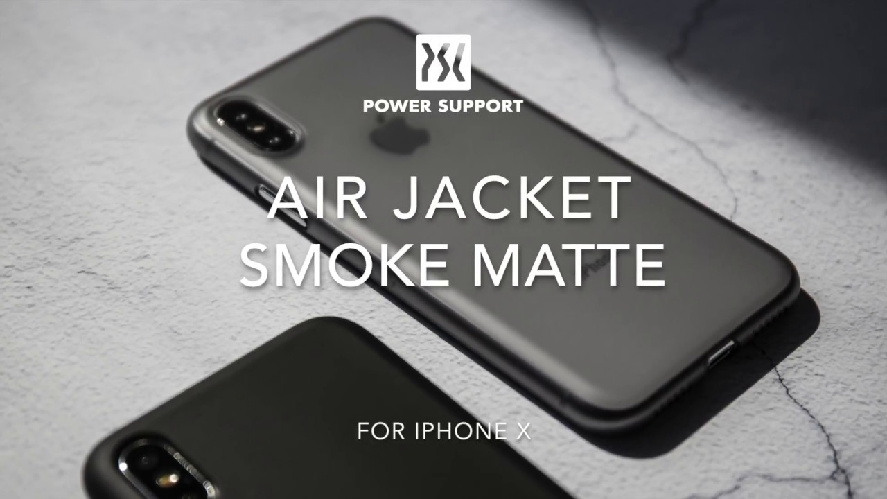 the latest 52c8a 8a6f6 Power Support Air Jacket smoke matte for iPhone X