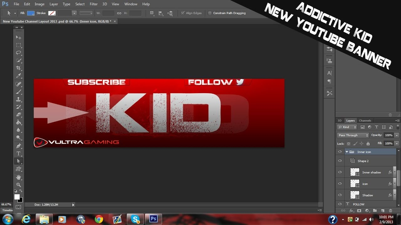 New youtube channel layout banner 2013 psd download free gfx youtube - Youtube banner pictures ...