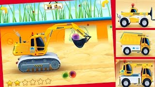 Cars In Sandbox  Construction Vehicles App For Kids    Ipad, Android, Iphone   Trucks For Kids