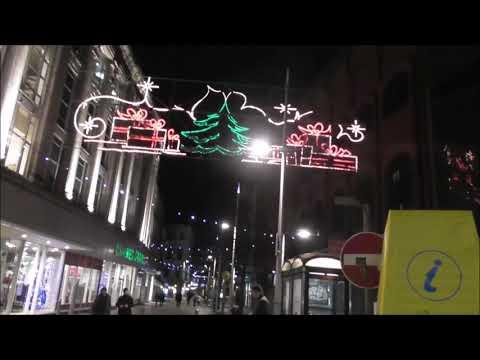 Belfast City Centre Christmas Evening Walk Through 2018