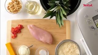 Ананас, фаршированный курицей, по рецепту Tefal