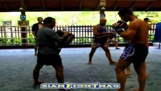 "YOHAN LIDON Training Paos Made in Thailand "" BAAN MUAY THAI """