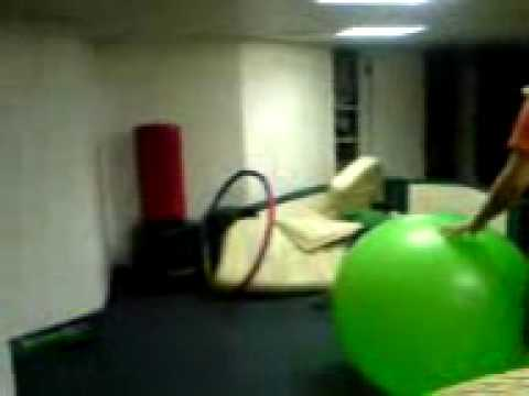 Big Bouncy Inflatable Green Ball Fast Forward