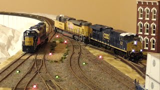 [1N] HO DCC Layout: Switching Mixed Freight with Heavy Power, 09/29/2015 ©mbmars01