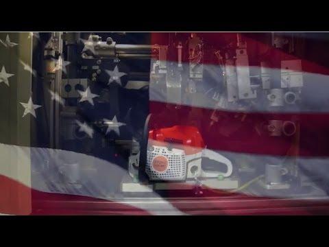 STIHL Chainsaw Plays National Anthem