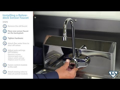 Below-Deck Sensor Faucets: Installation And Adjustment