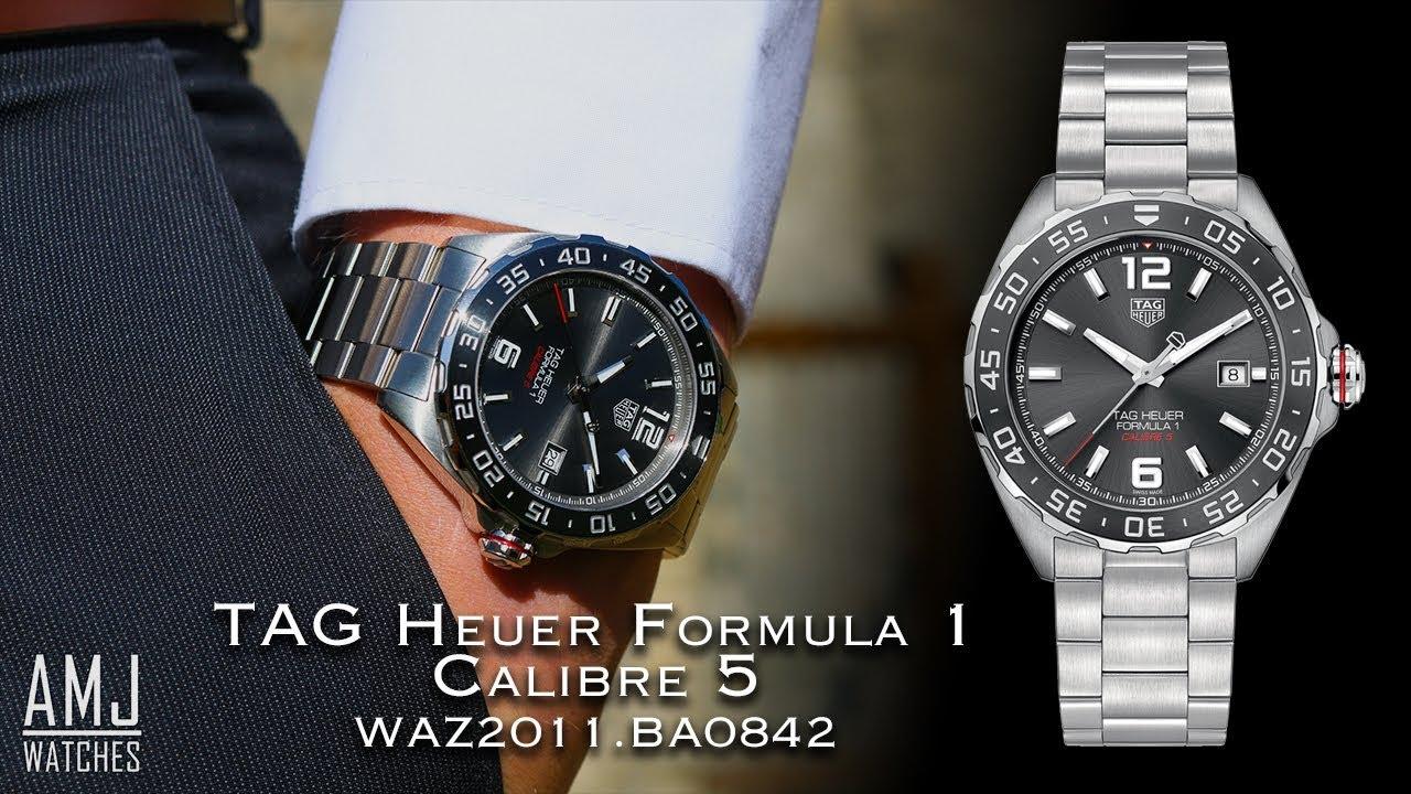 a87f5e1bf89c1 TAG Heuer Formula 1 Calibre 5 (WAZ2011.BA0842) Showcase - YouTube