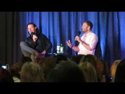 The Highlanders in London Heathrow  : Steven Cree & Sam Heughan Q&A