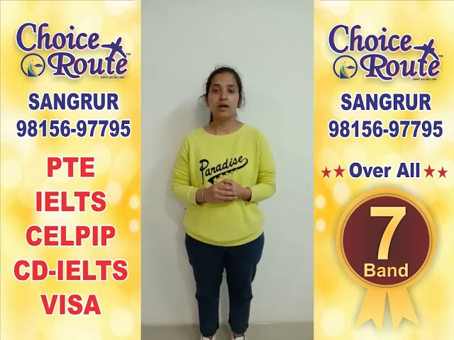 Congratulations Simranjeet Kaur - Choice Route is the Best PTE and IELTS institute in Sangrur City.