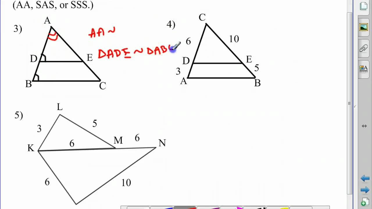 Geometry Chapter 7 Section 5