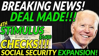DEAL! Infrastructure Bipartisan, Fourth $1400 Stimulus Checks, Social Security EXPANSION, Daily News