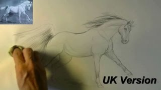 How to draw a running Horse / animal drawings / #8