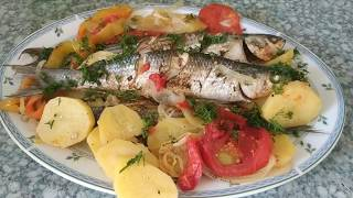 Запеченная рыба с овощами в духовке | Baked fish with vegetables in the oven