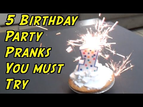 5 Birthday Party Pranks You Can Do - HOW TO PRANK (Evil Booby Traps) | Nextraker